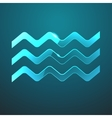 glass waves icon vector image