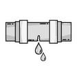 grayscale plumbing tube repair equipment vector image vector image