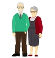 Happy grandfather and grandmother standing vector image vector image
