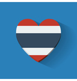 Heart-shaped icon with flag of Thailand vector image vector image