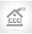 House purchase thin line icon vector image vector image