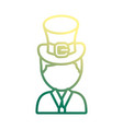 irish top hat icon vector image