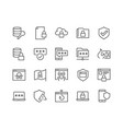 line data security icons vector image vector image