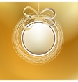 Merry christmas gold card EPS8 vector image vector image
