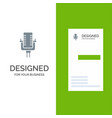 microphone multimedia record song grey logo vector image vector image