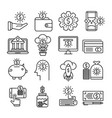 money outline icons vector image vector image