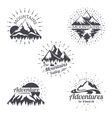 Mountain sketch logo set in retro style vector image vector image