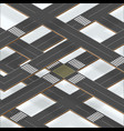 multilevel crossroad sections with shadows vector image