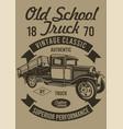 old school truck vector image