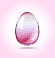 Pinky glass egg easter concept vector image vector image