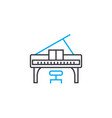 playing the piano linear icon concept playing the vector image vector image