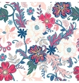 seamless floral background isolated flowers vector image vector image