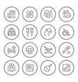 set of medical round icons vector image