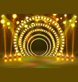 show light podium yellow vector image vector image