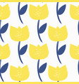 simple flower seamless pattern background vector image vector image