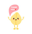 smiling chickpea character saying thank you vector image vector image