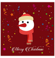 snow man with red background vector image vector image