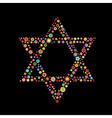 star of David shape vector image vector image