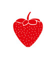strawberry icon isolated on the white background vector image