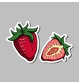 StrawberrySticker vector image vector image