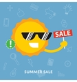 Summer sale concept flat vector image