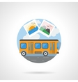 Travel by bus color detailed icon vector image vector image