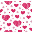 valentines day love decorative seamless pattern vector image