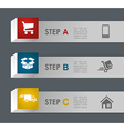 Web shopping and shipping steps vector image vector image