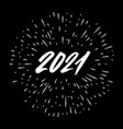 2021 year brush lettering isolated on a splash vector image vector image