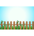 A wooden fence vector image