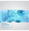 Abstract background with blue triangles template vector image