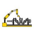 automotive part camshaft with robotic arm design