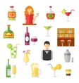Bar Flat Icons Collection vector image
