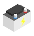 Battery isometric 3d icon vector image vector image