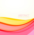 beautiful colorful wave background with soft vector image vector image
