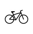 bicycle bike icon in flat style vector image vector image