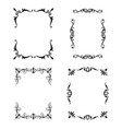 black patterned frames set vector image