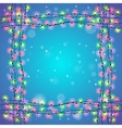 Blue holiday square background vector image vector image