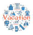 blue winter vacation concept vector image vector image