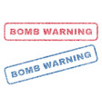 bomb warning textile stamps vector image vector image