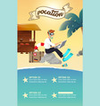 businessman working on beach vector image