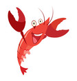 cartoon red lobster taiking vector image vector image