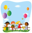 Children playing musical instruments vector image vector image