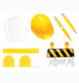 Construction objects vector image vector image