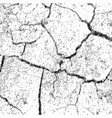 cracked dry earth top view vector image
