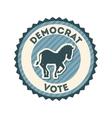 Democrat party design vector image vector image