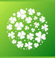 distressed shamrock round shape vector image vector image