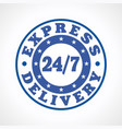 express delivery 24-7 vector image