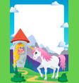 fairy tale theme frame 4 vector image