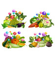 farm vegetables vitamins and minerals vector image vector image
